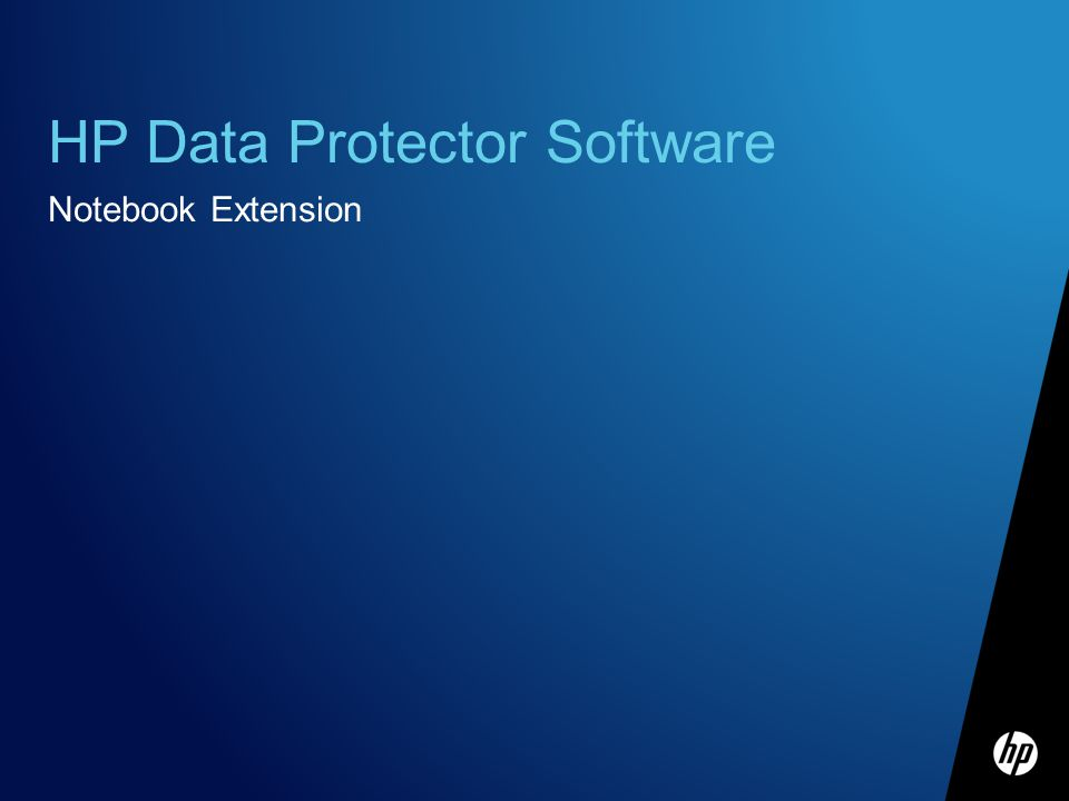 HP Data Protector Software Notebook Extension