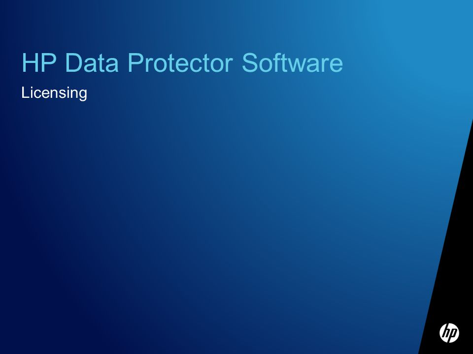 HP Data Protector Software Licensing