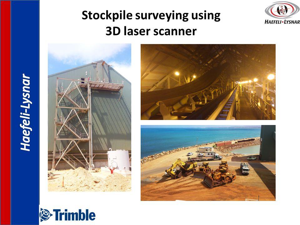 Stockpile surveying using 3D laser scanner