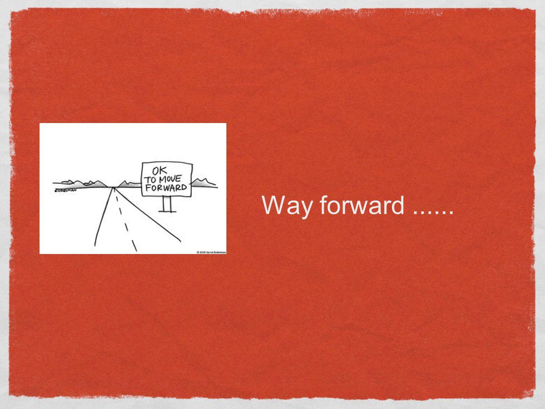 Way forward......