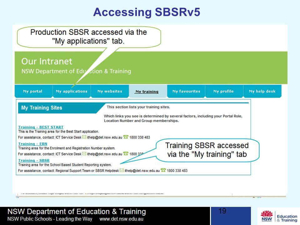 19 Accessing SBSRv5