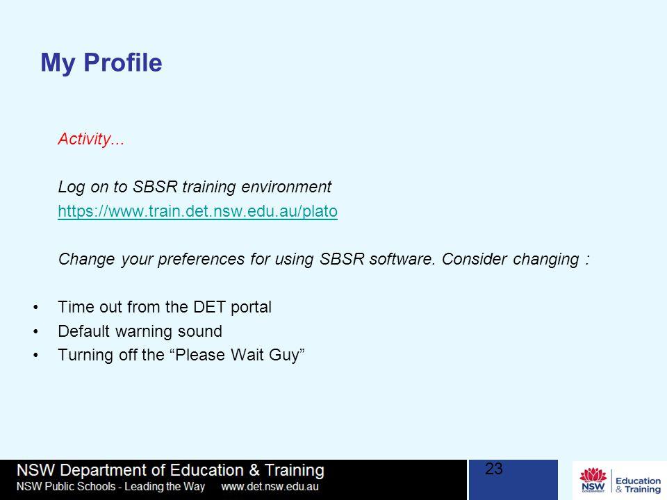 My Profile Activity...