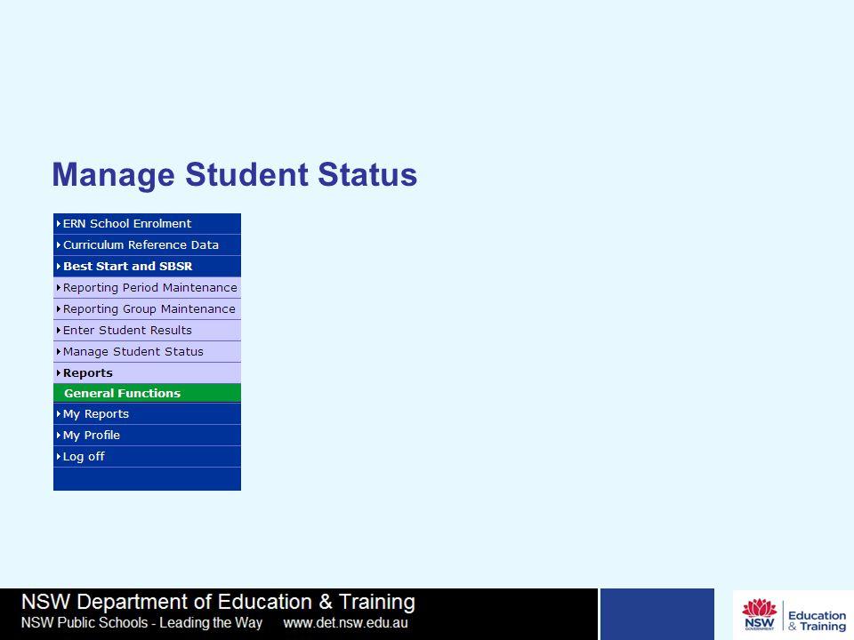 Manage Student Status