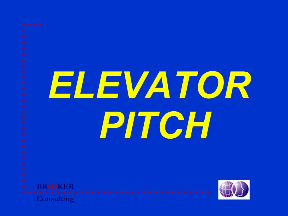BRO Consulting OKER ELEVATOR PITCH