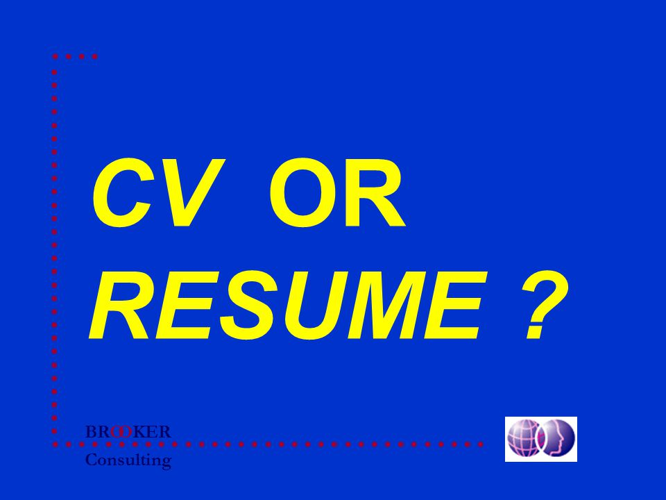 BRO Consulting OKER CV OR RESUME