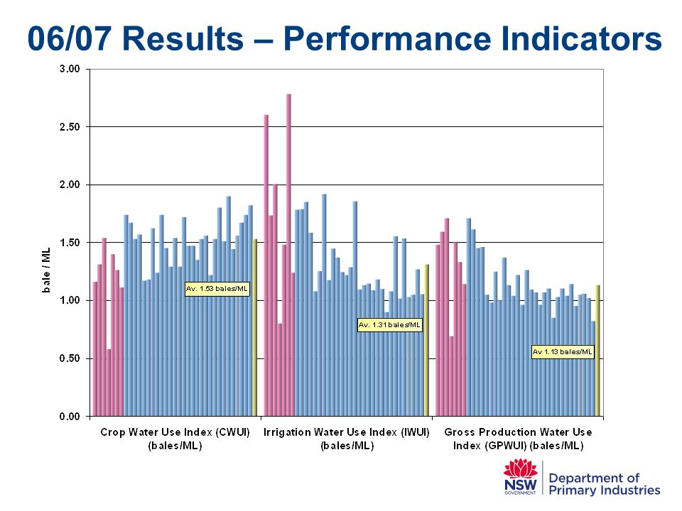 06/07 Results – Performance Indicators