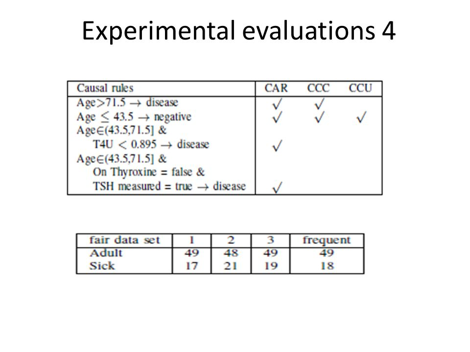 Experimental evaluations 4