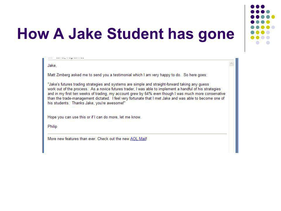 How A Jake Student has gone