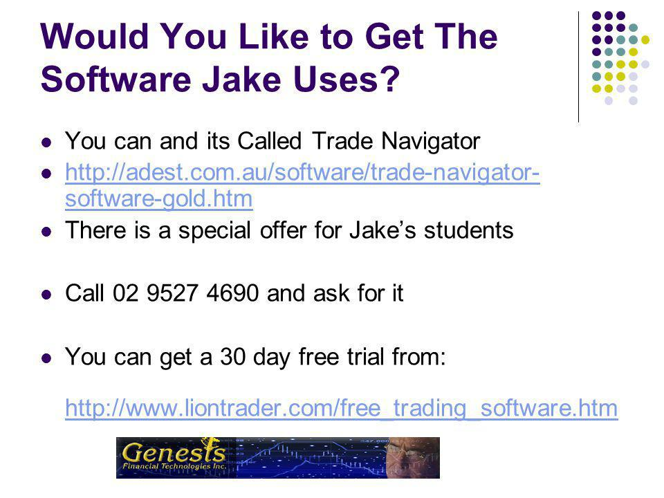 Adest.com.au Or call 02 927 4690 Jake Will Be Back in Sydney in June 2008 for 3 Days of Real Time Trading