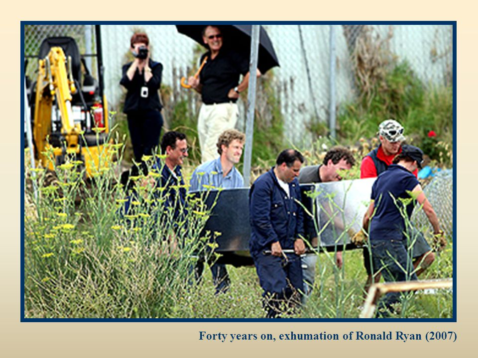 Forty years on, exhumation of Ronald Ryan (2007)