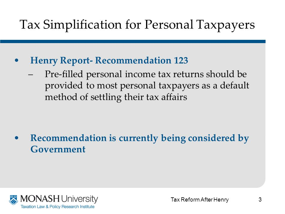 4 Tax Simplification for Personal Taxpayers Relevant factors to consider regarding the standard deduction….