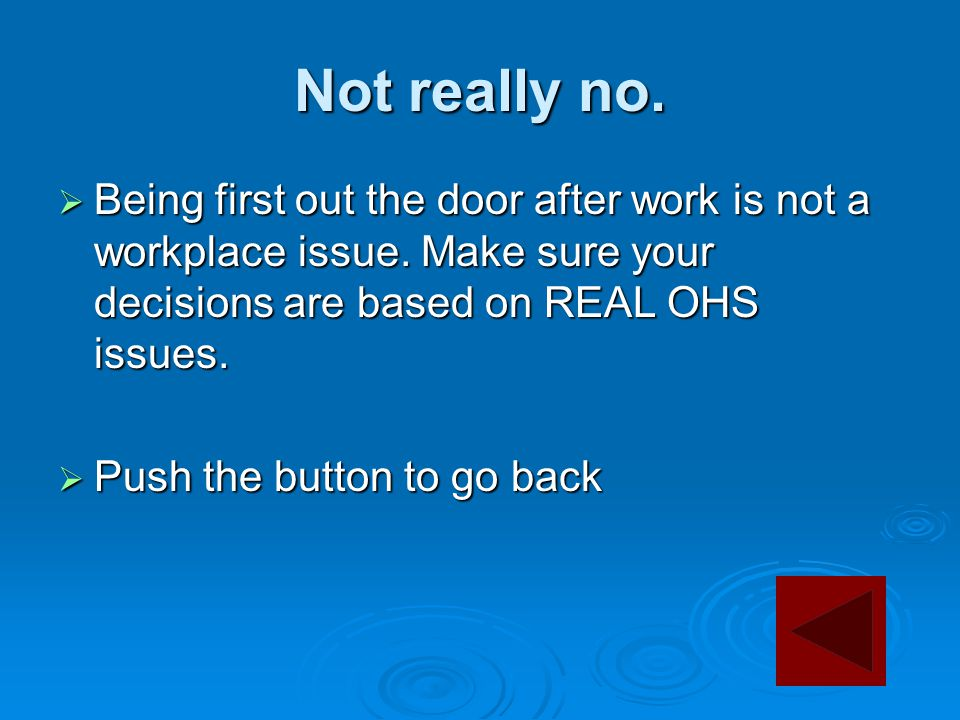Not really no.  Being first out the door after work is not a workplace issue.