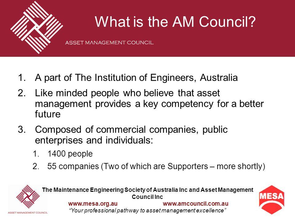 What is Asset Management? The Four Key Principles The PDCA Process Good AM Processes