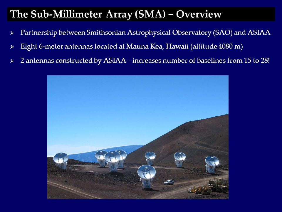  Array commissioned in November 2003  Science Programs: Feeding the Central Supermassive Black Hole in M51 The Sub-Millimeter Array (SMA) − Science 12 CO (1-0) Sakamoto et al.