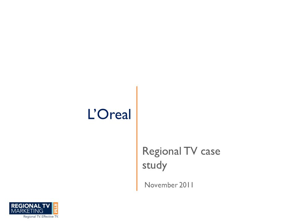 RO 3 I x Cost efficiency and ROI from L'Oreal regional TV is 3 times better than metro TV Source: Scan Data (4 W/E 04/7/10 to 31/7/11) Coles /Woolworths/Bi Lo (Excludes NT), Adquest Millennium
