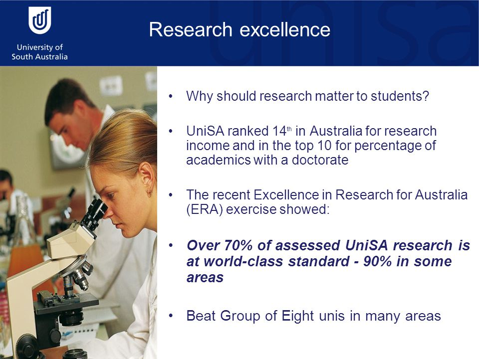 Research excellence Why should research matter to students.