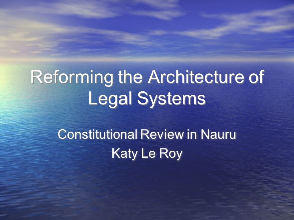 Nauru Smallest independent republic in the world Single island of 21km sq Population approx 10,000 Independent since 1968 Constitution establishes parliamentary government, unicameral parliament of 18 members, judicature, bill of rights Smallest independent republic in the world Single island of 21km sq Population approx 10,000 Independent since 1968 Constitution establishes parliamentary government, unicameral parliament of 18 members, judicature, bill of rights