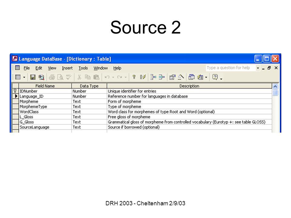 DRH 2003 - Cheltenham 2/9/03 Source 2
