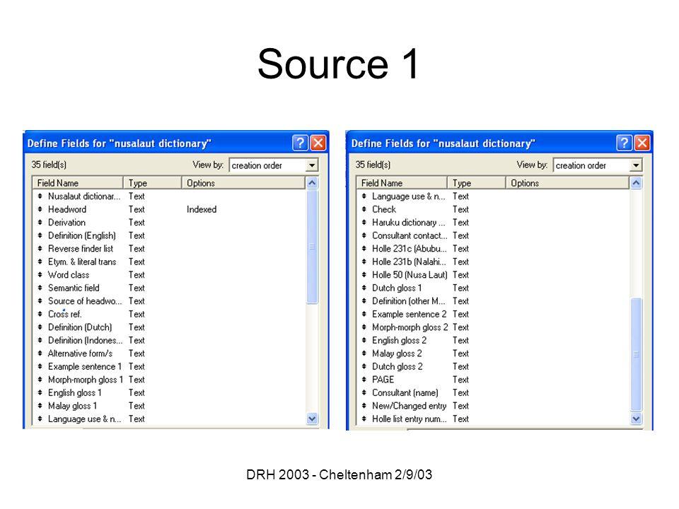 DRH 2003 - Cheltenham 2/9/03 Source 1