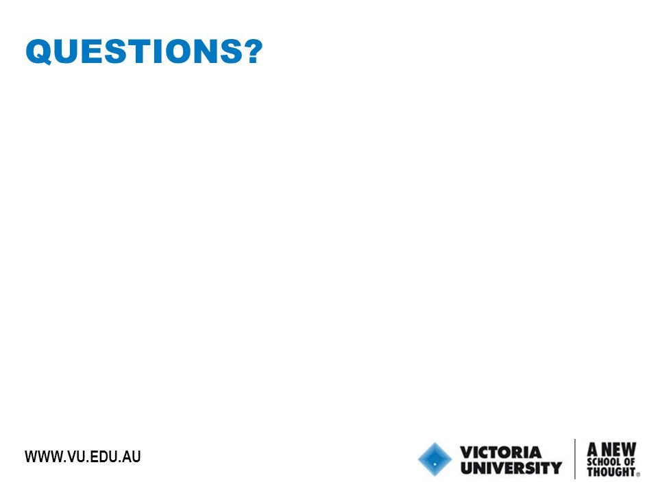 35 WWW.VU.EDU.AU QUESTIONS