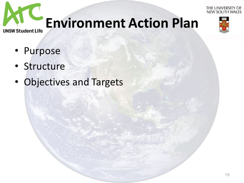 Environment Action Plan Purpose Structure Objectives and Targets 19