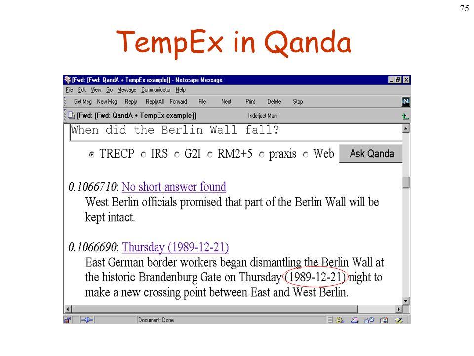 75 TempEx in Qanda