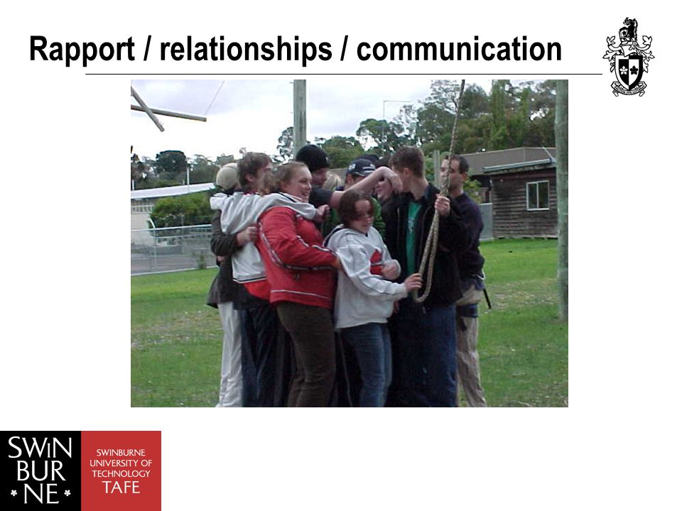 Rapport / relationships / communication