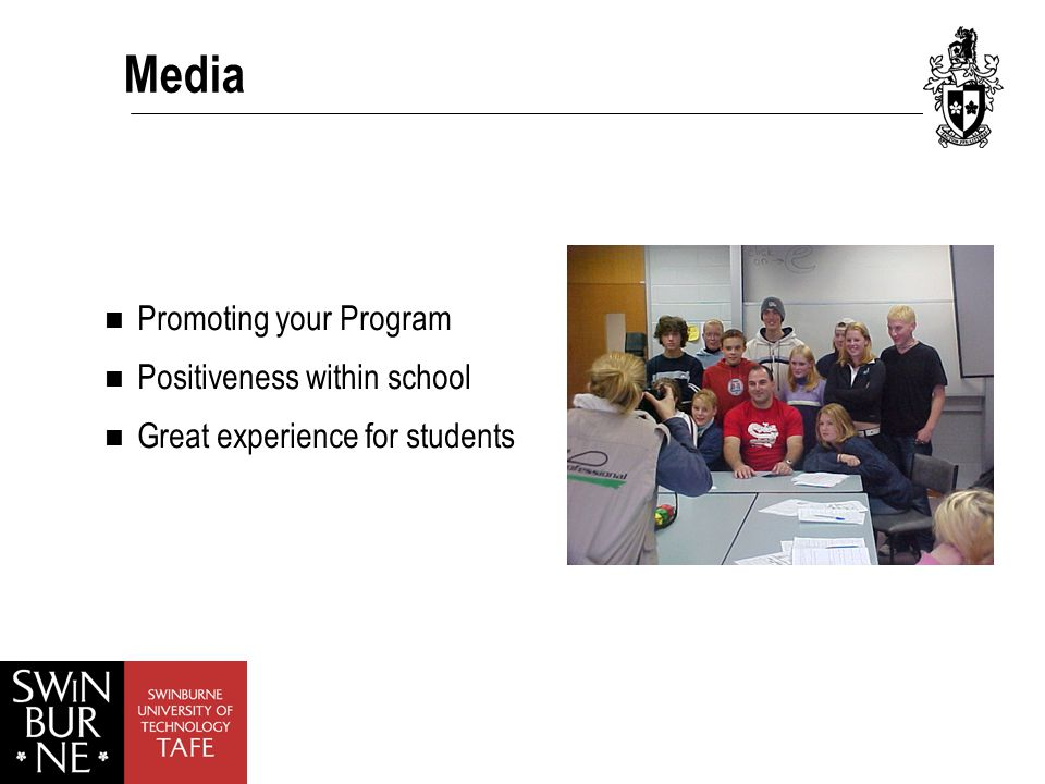 Media Promoting your Program Positiveness within school Great experience for students