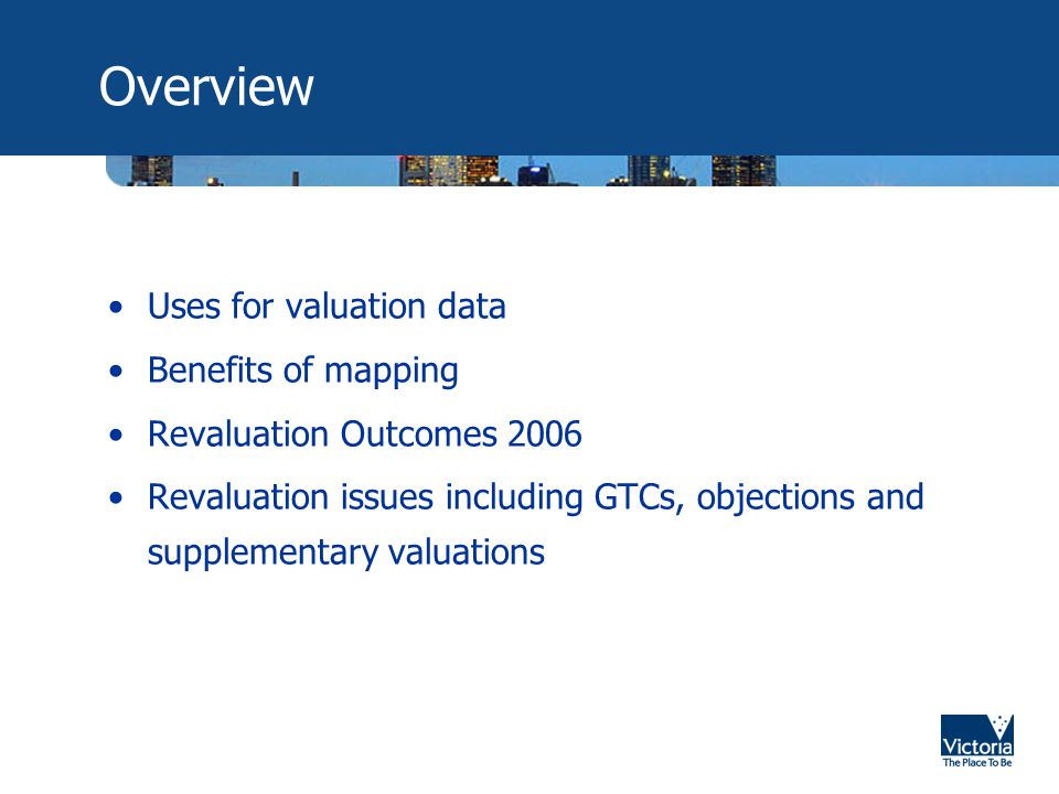 Valuation Data Close Up What do you get as part of the Valuation Process.