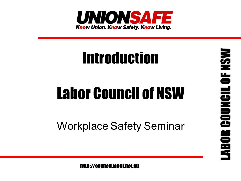 LABOR COUNCIL OF NSW http://council.labor.net.au Section 11 Designers/Manufacturers/Suppliers Designers/Manufactures/Suppliers of plant or substances for use by people at work, must ensure it is safe, when properly used.