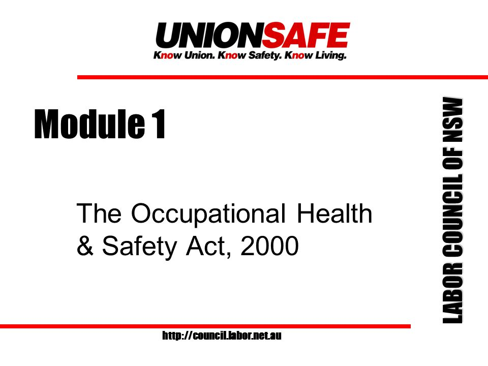 LABOR COUNCIL OF NSW http://council.labor.net.au Minimum requirements for OHS committees The legislation relating to OHS committees has not changed.