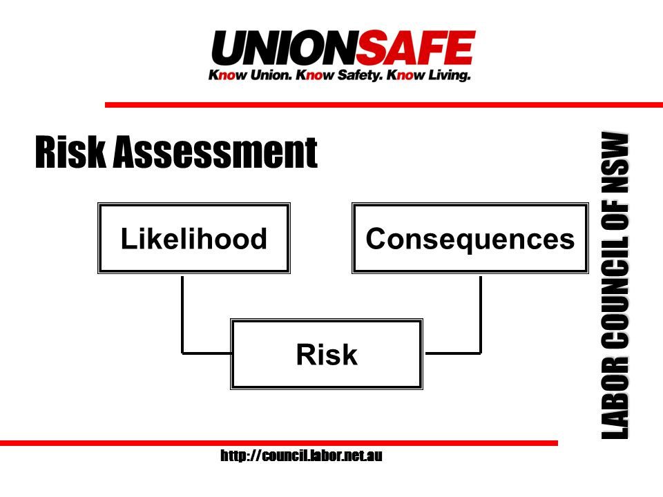 LABOR COUNCIL OF NSW http://council.labor.net.au How to do a Risk Assessment Review available information such as: MSDS Manufacturer information OHS Regulation Guidance material and Codes of Practice Australian Standards Workplace experience