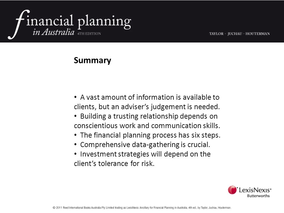 Summary A vast amount of information is available to clients, but an adviser's judgement is needed.