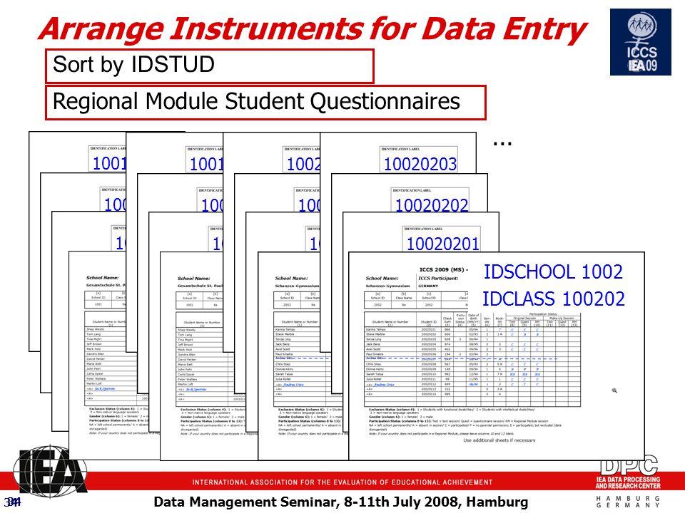 Data Management Seminar, 8-11th July 2008, Hamburg 34...