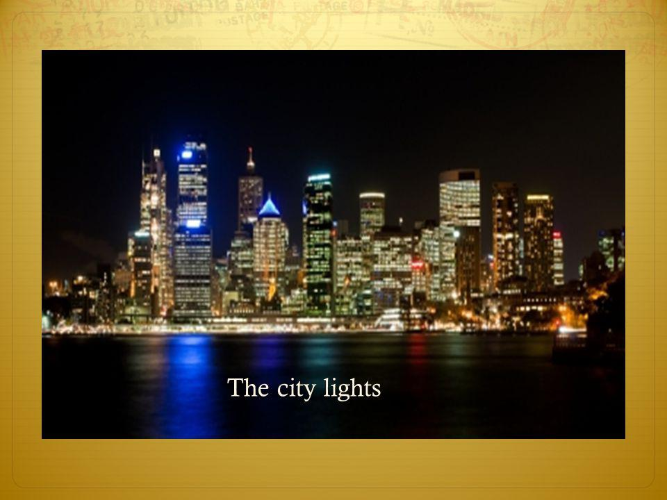 The city lights