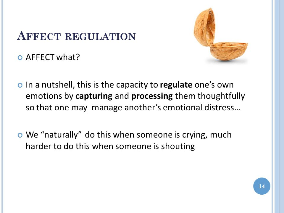 A FFECT REGULATION AFFECT what.