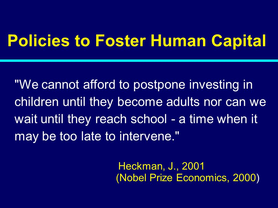 02-056 Policies to Foster Human Capital