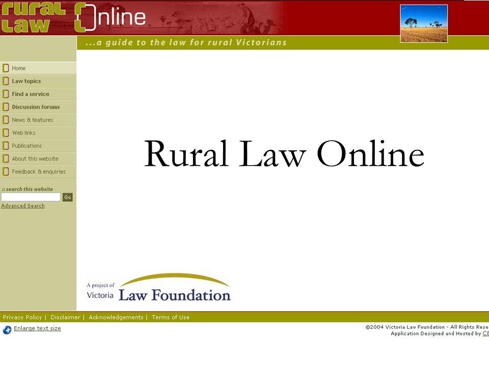 Rural Law Online