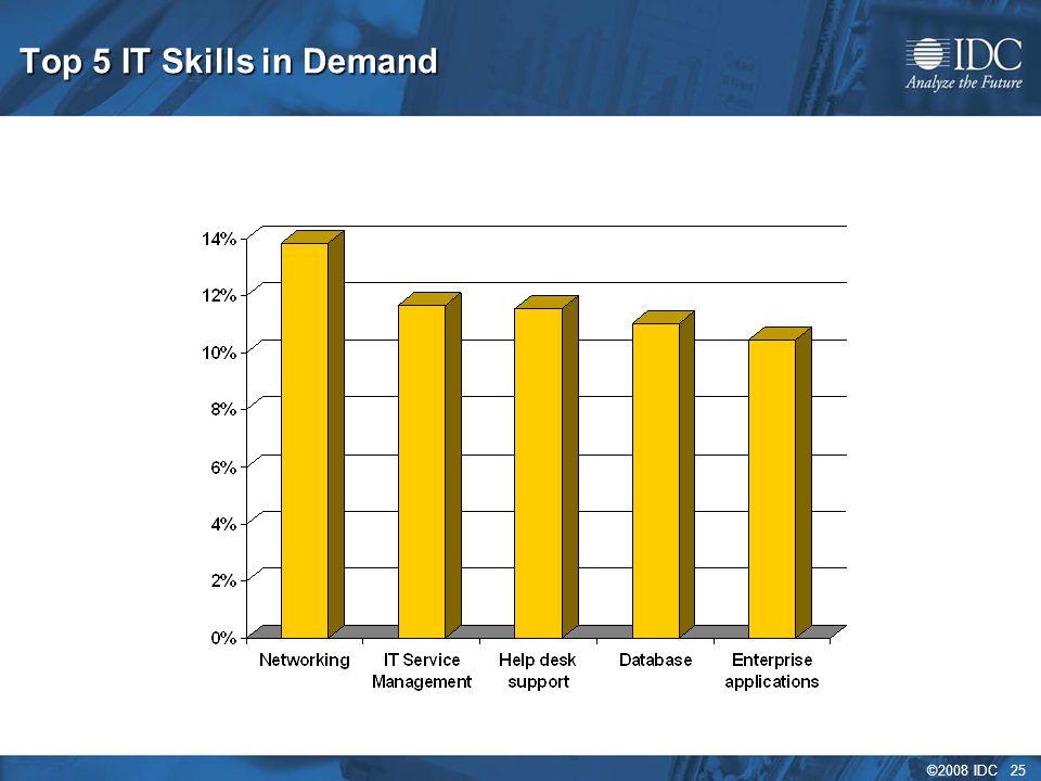 ©2008 IDC 25 Top 5 IT Skills in Demand