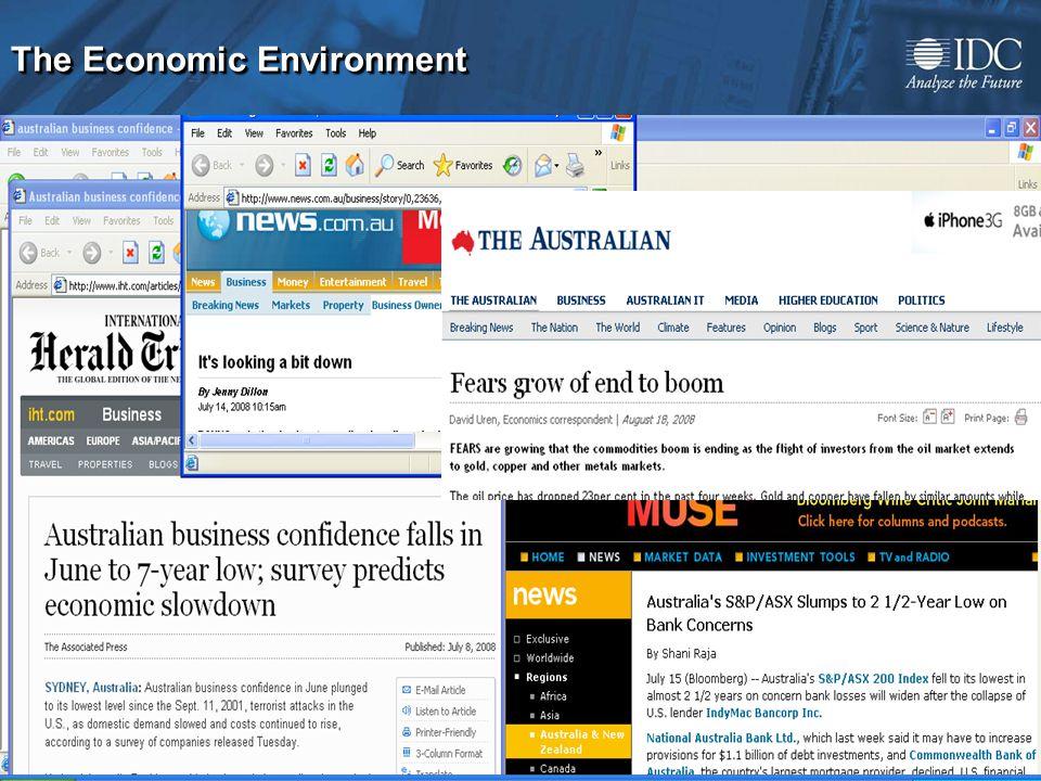 ©2008 IDC 4 The Economic Environment
