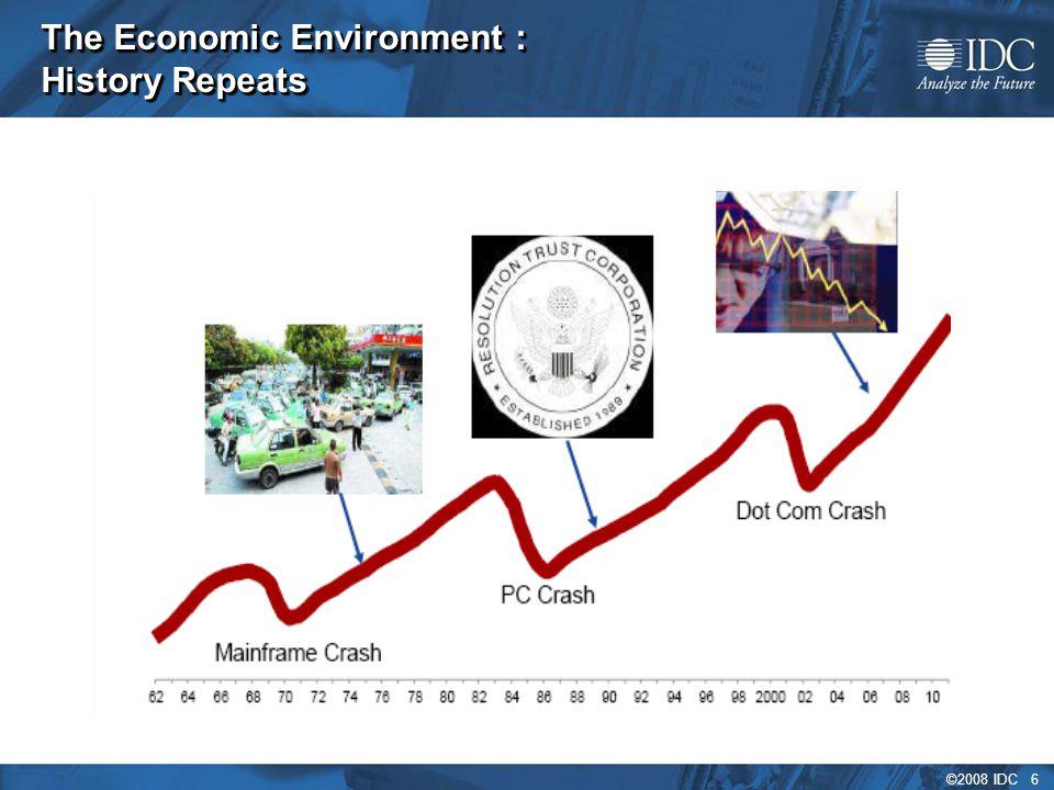©2008 IDC 6 The Economic Environment : History Repeats