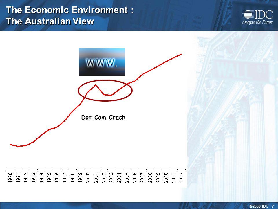 ©2008 IDC 7 The Economic Environment : The Australian View Dot Com Crash