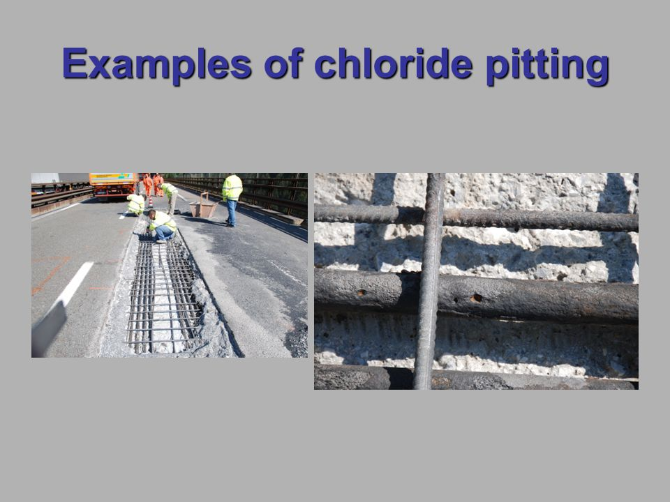 Examples of chloride pitting