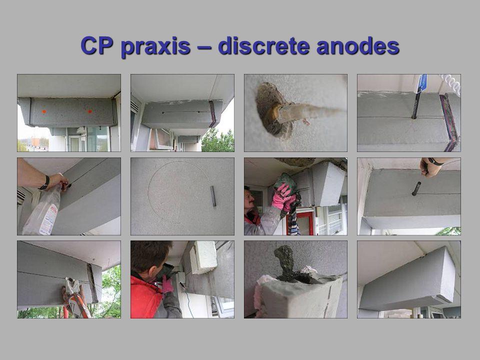 CP praxis – discrete anodes