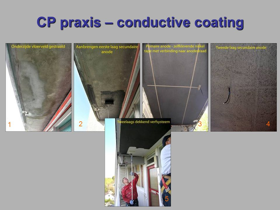 CP praxis – conductive coating 1 234 5