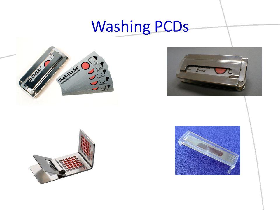 Washing PCDs