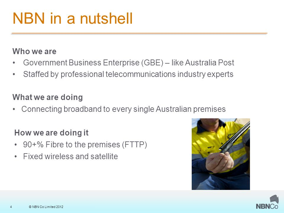 © NBN Co Limited 201215 Construction Overview – Physical Infrastructure Representation