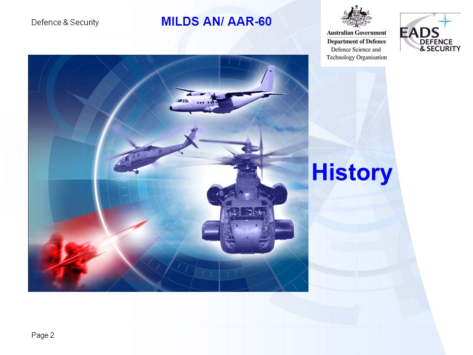 Defence & Security MILDS AN/ AAR-60 Page 2 History
