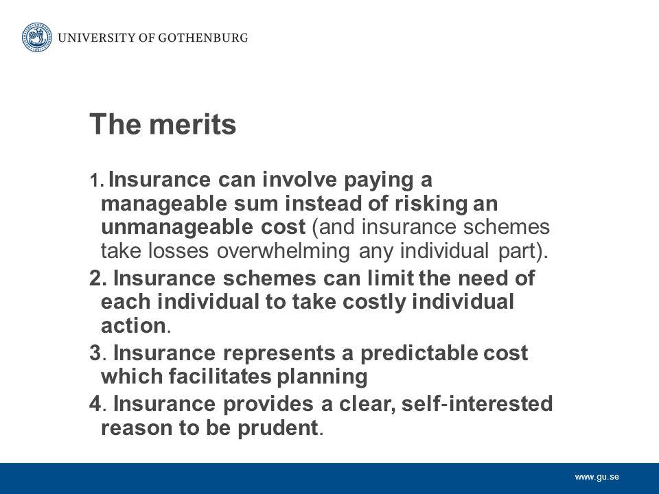 www.gu.se The merits 1.