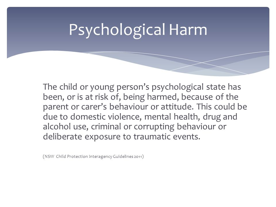 The child or young person's basic needs (e.g.